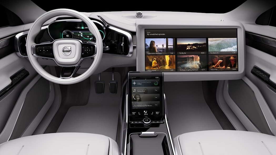 volvo concept 26 displays tv screens