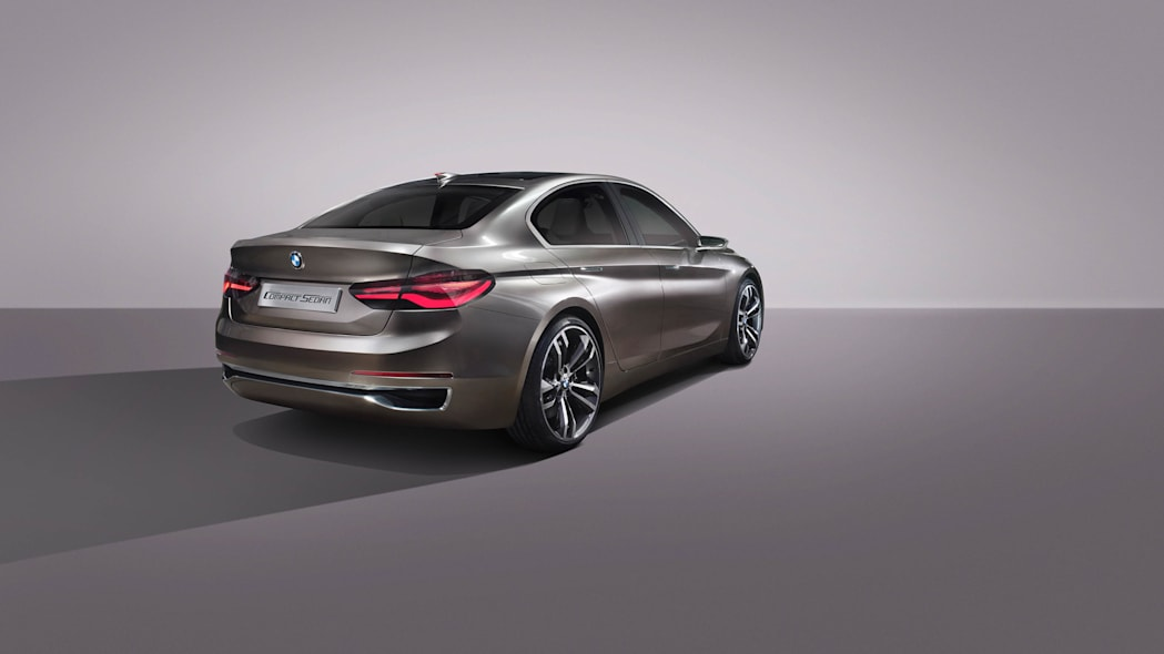 BMW Concept Compact Sedan rear 3/4 studio