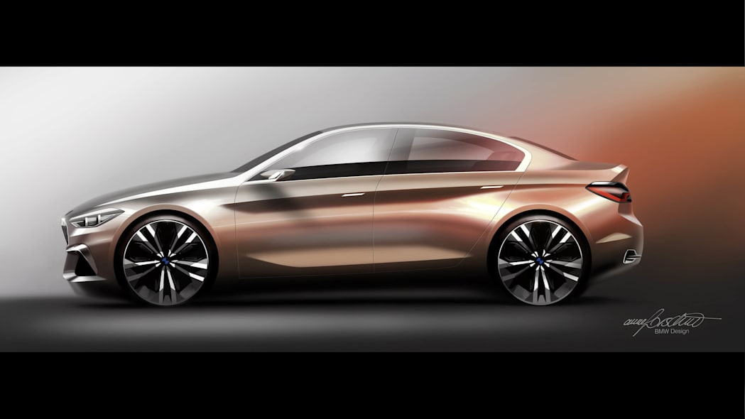 BMW Concept Compact Sedan profile rendering