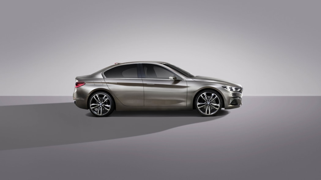 BMW Concept Compact Sedan profile studio