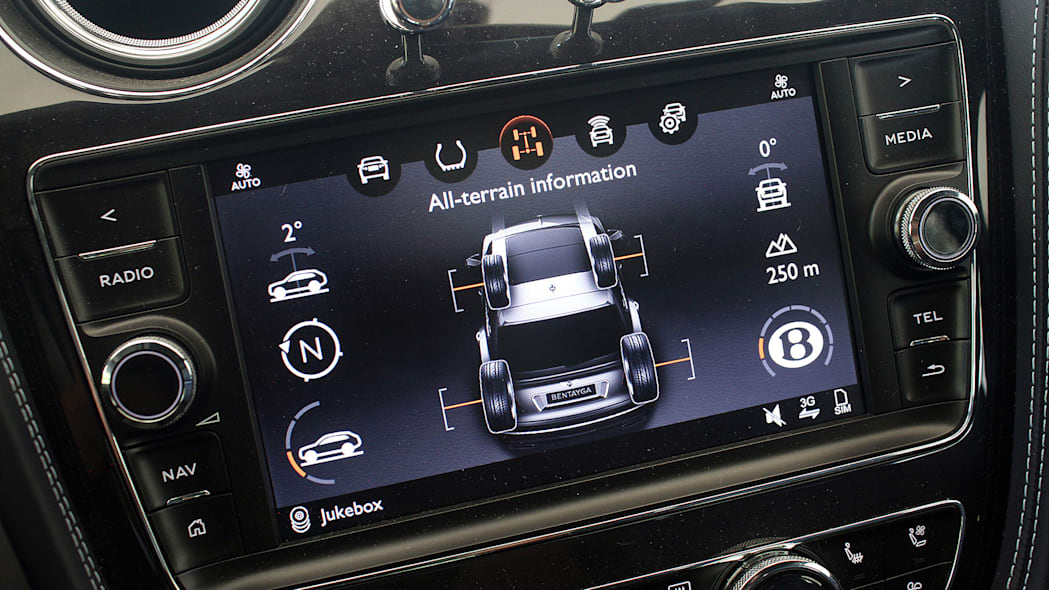 2016 Bentley Bentayga infotainment system