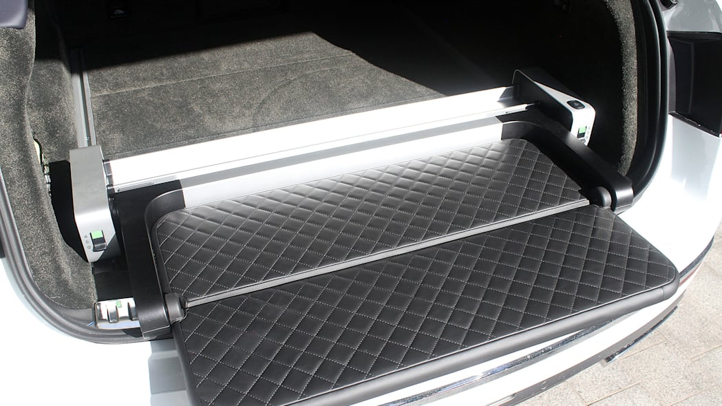 2016 Bentley Bentayga rear cargo area fold out tray