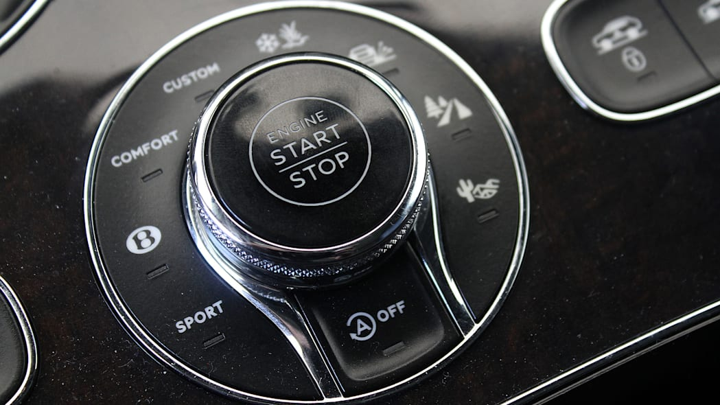 2016 Bentley Bentayga start button