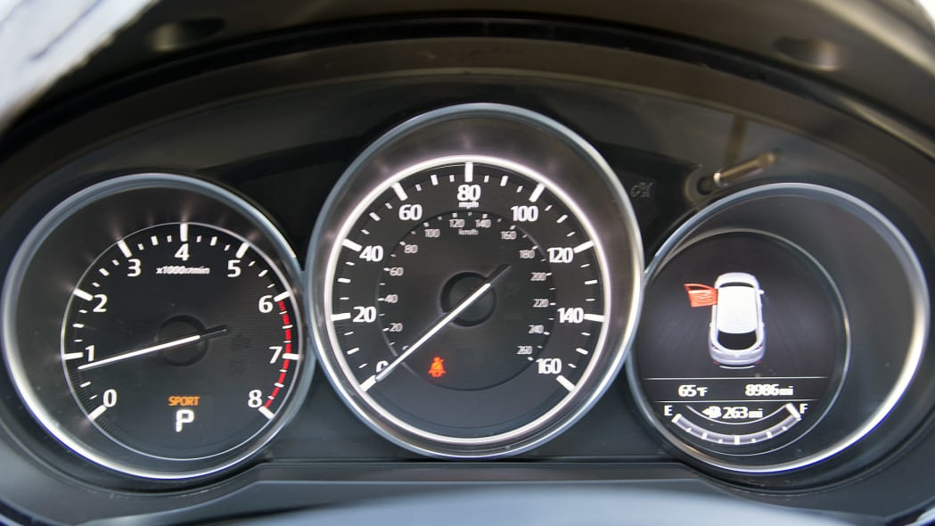 2017 Mazda CX-9 Prototype gauges
