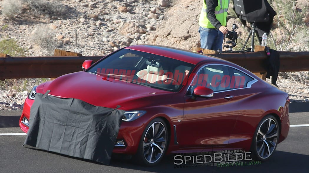 cover q60 coupe infiniti two-door spied