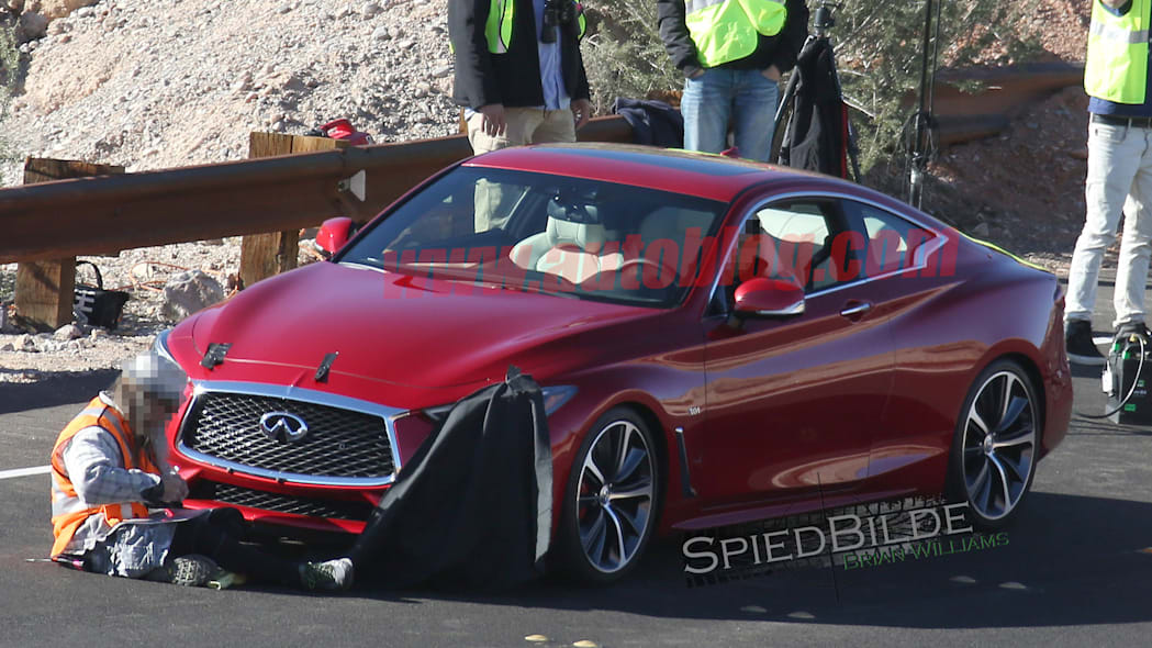 spy photos spied q60 infiniti coupe 2017