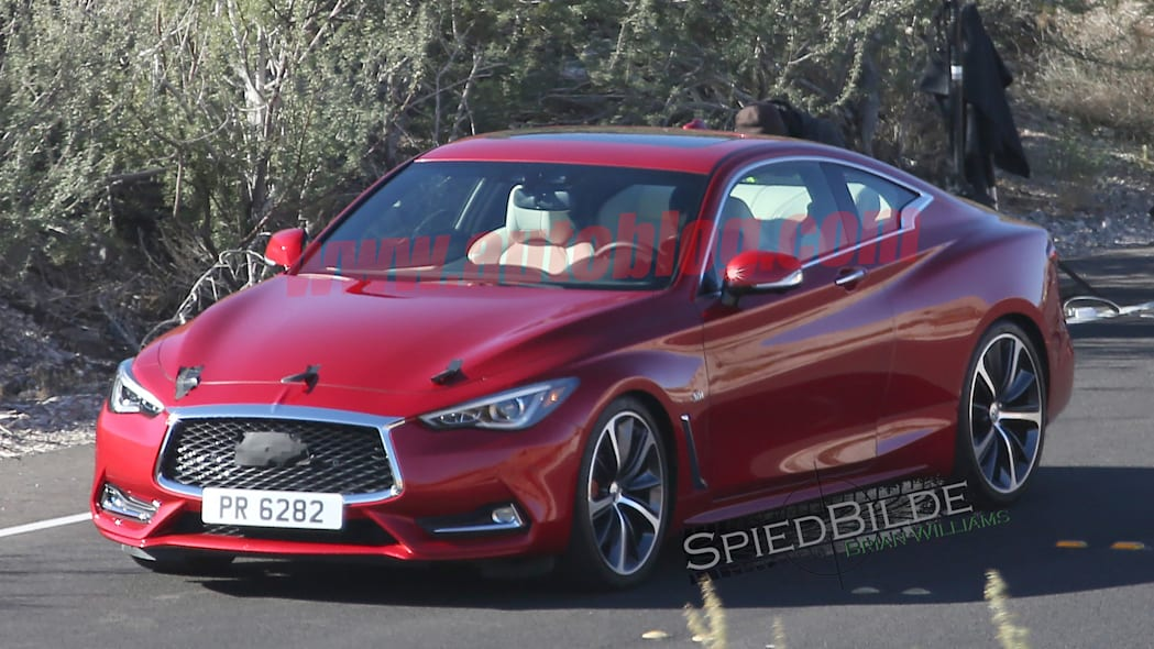 q60 infiniti spied spy photos coupe