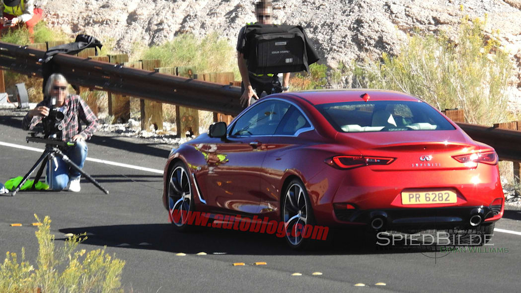 infiniti q60 spy photos taillights spied coupe