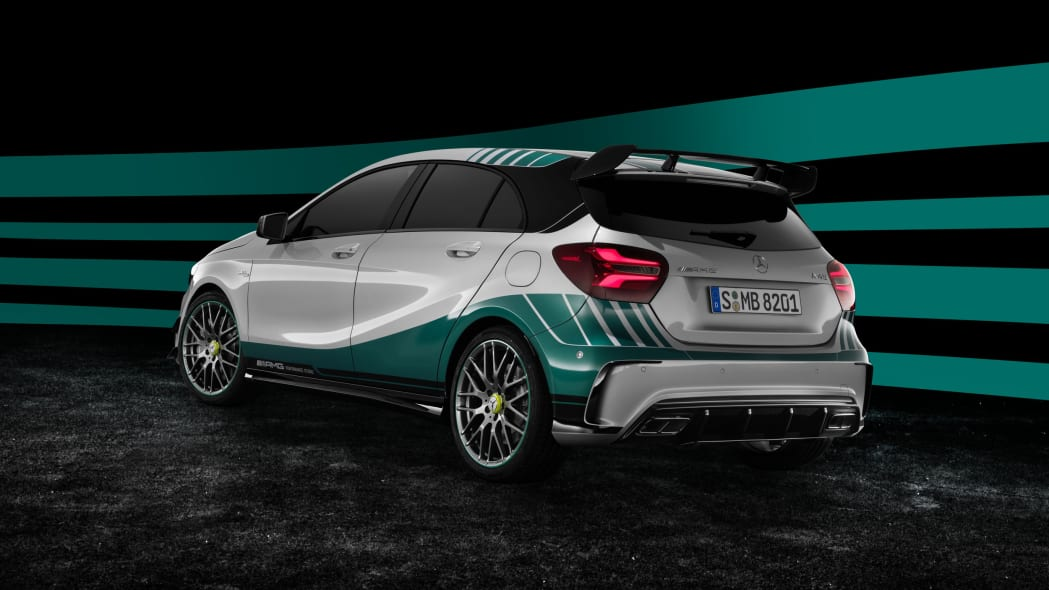 Mercedes-AMG A45 World Champion Edition rear 3/4