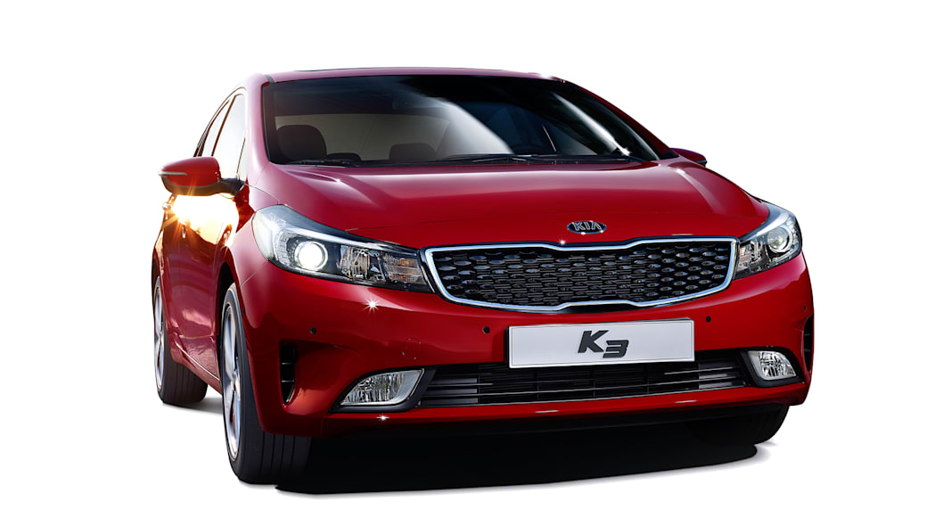 2017 Kia K3 Forte red front 3/4