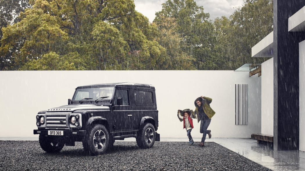 Overfinch Land Rover Defender 40th Anniversary Edition front 3/4 rain