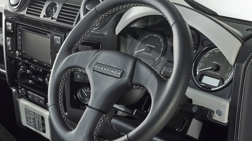 Overfinch Land Rover Defender 40th Anniversary Edition steering wheel
