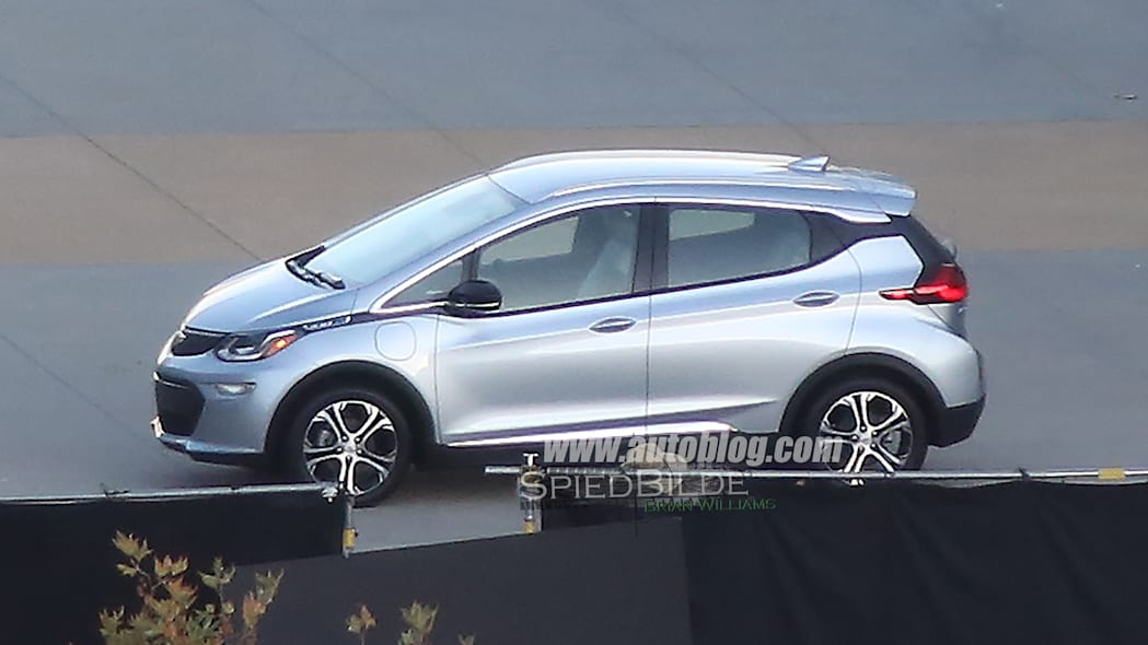 The Chevy Bolt at a photo shoot