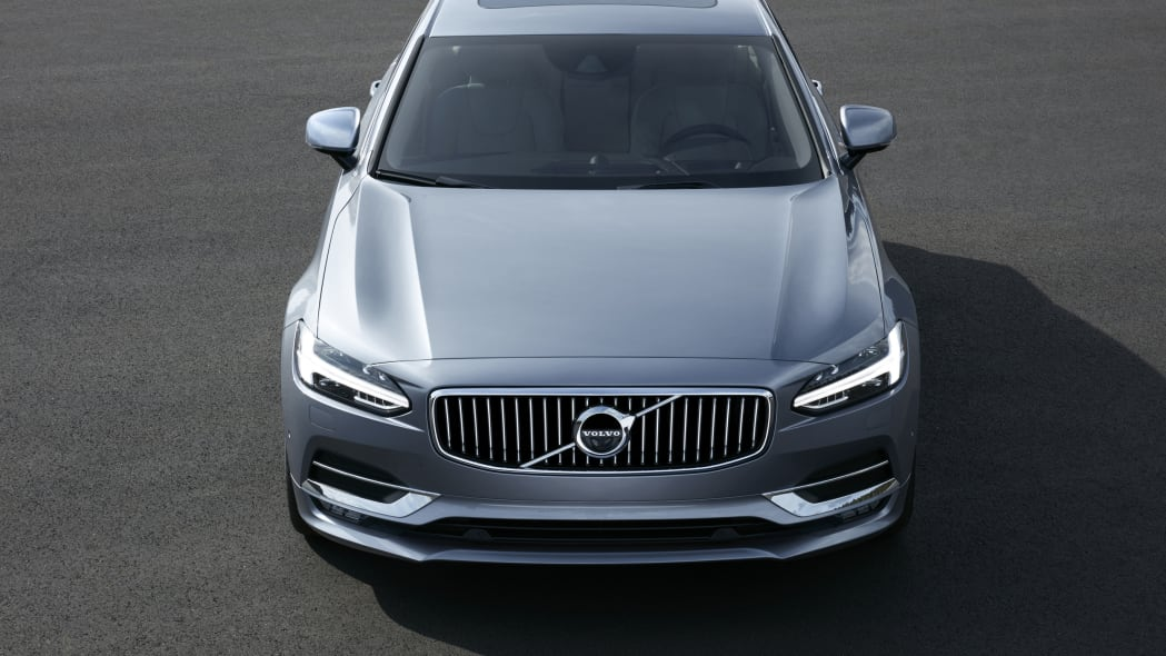 2017 Volvo S90 front above street