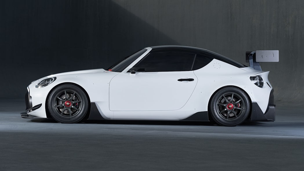 white toyota s-fr racing concept profile