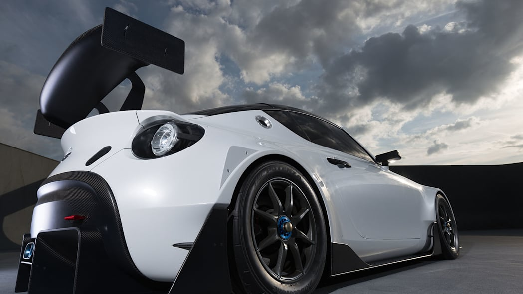 white toyota s-fr racing concept rear low angle