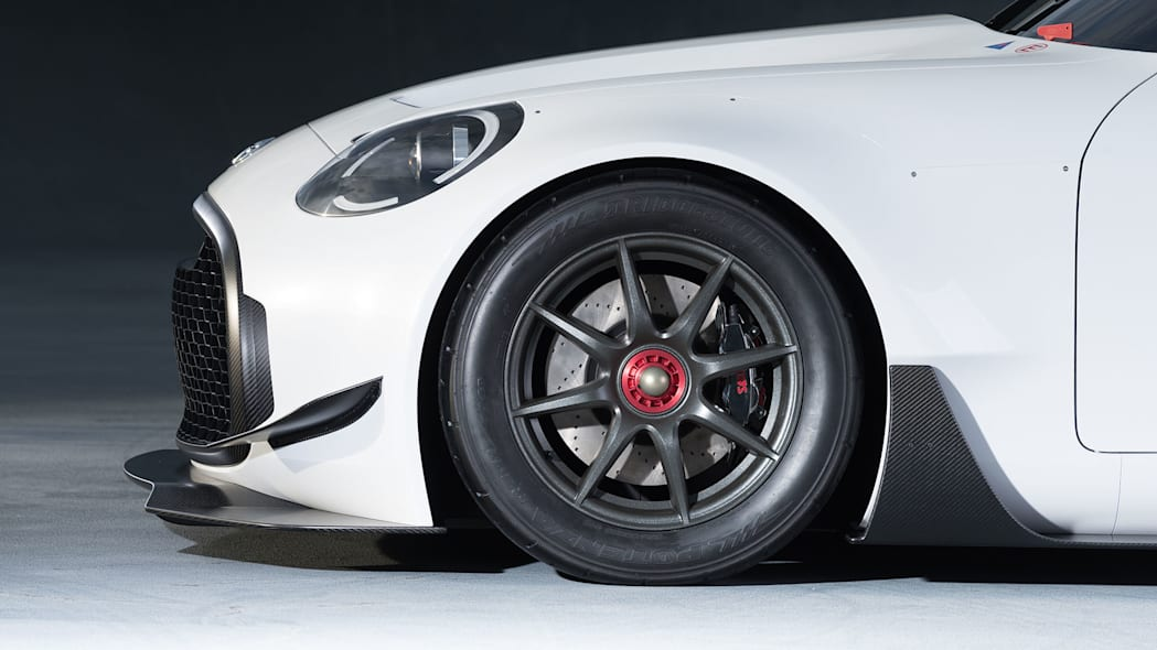 white toyota s-fr racing concept front fender detail