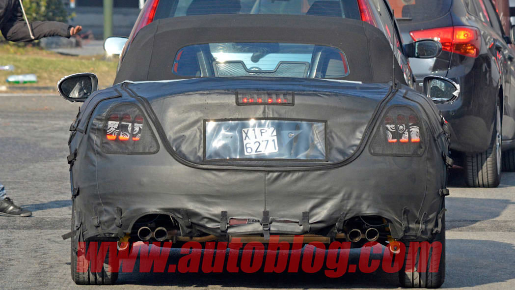 camo rear tailpipes fiat 124 spider abarth
