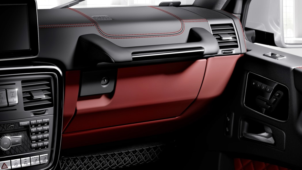 Mercedes-Benz G-Glass exterior with Designer Manufaktur options, red accents on the AMG model.