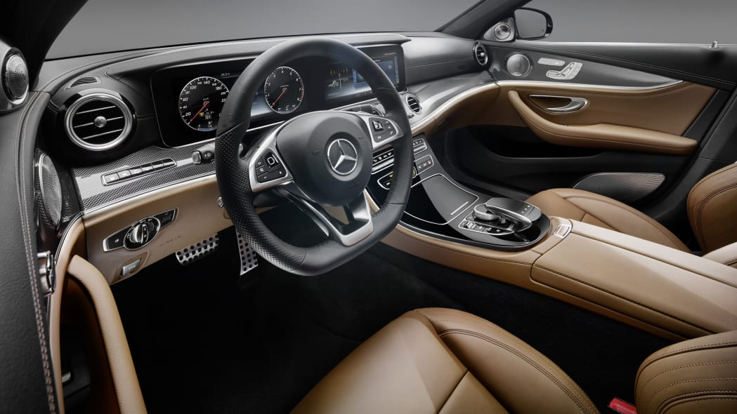 2017 Mercedes-Benz E-Class interior from the driver view