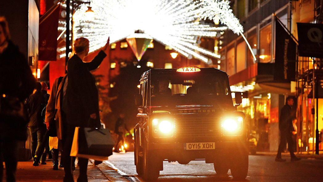 Land Rover Defender taxi London