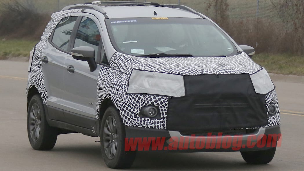 ecosport ford crossover cuv spied