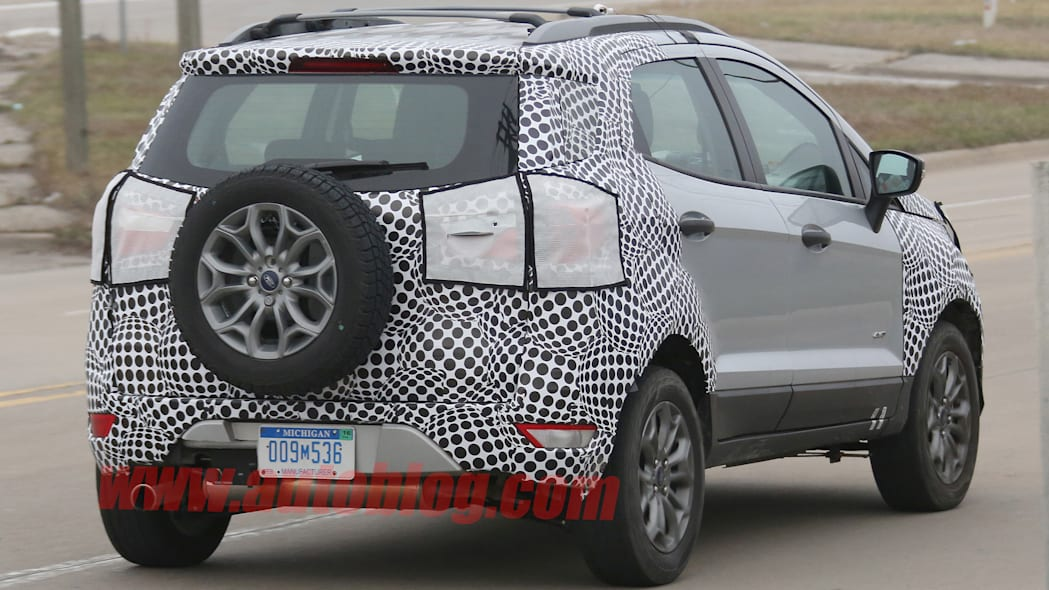 spy shots ford ecosport camouflage
