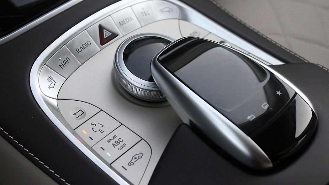 2016 Mercedes-Maybach S600 infotainment system controls
