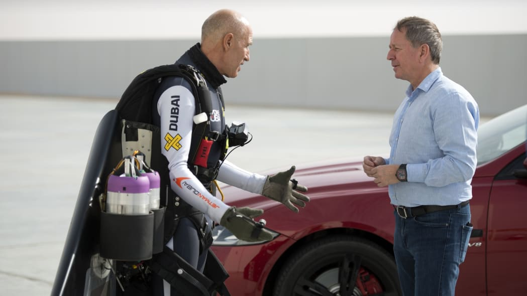 Martin Brundle Yves Rossy Jetman
