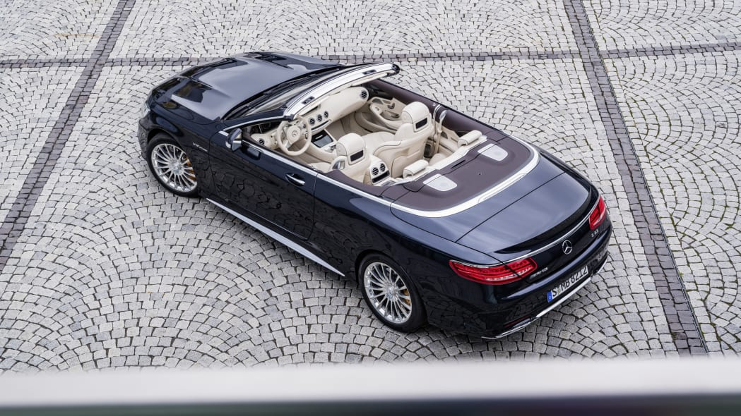 Mercedes-AMG S65 Cabriolet roof down above view