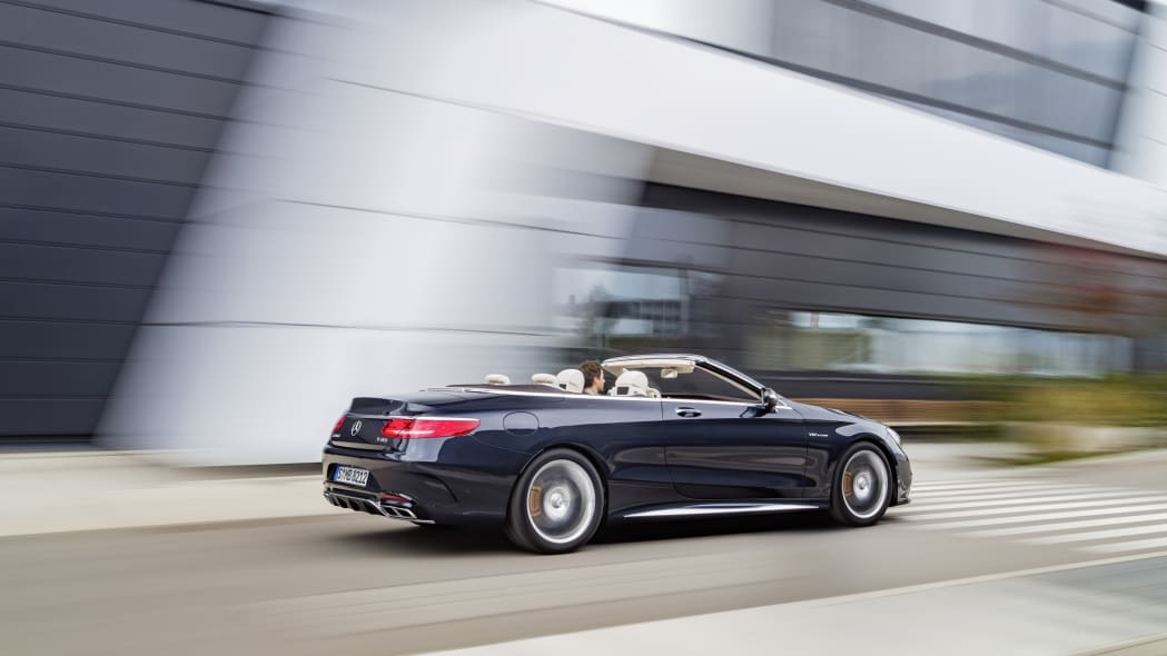 Mercedes-AMG S65 Cabriolet rear 3/4 action