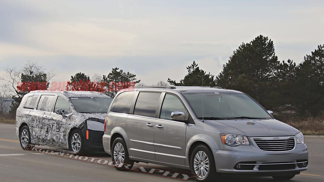2017 chrysler town and country with current model