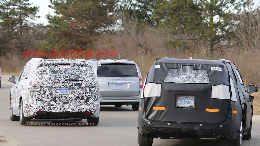 2017 chrysler town and country testing together
