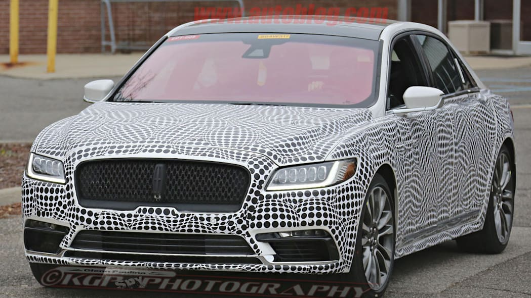 lincoln continental spy shot front three quarters
