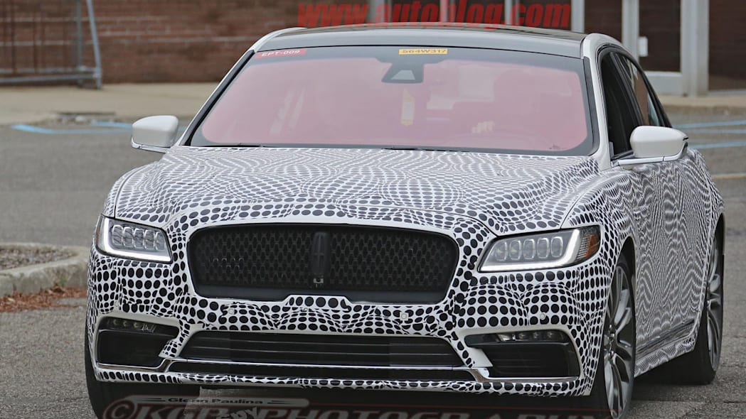 lincoln continental spy shot front