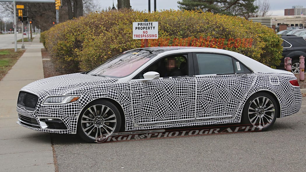 lincoln continental spy shot side