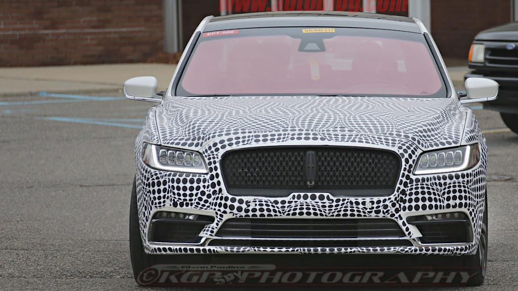 lincoln continental spy shot front design