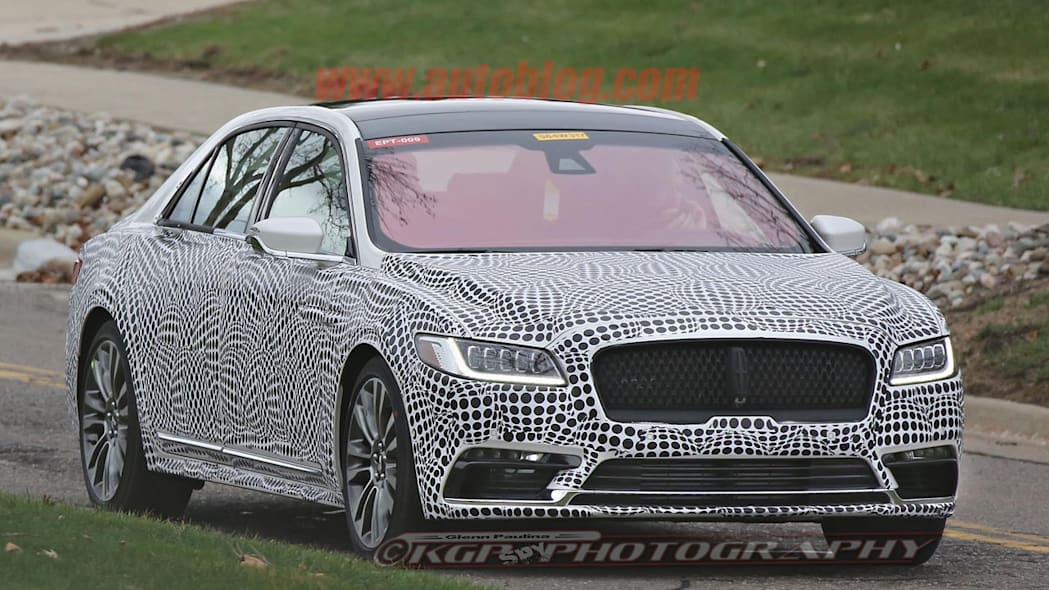 lincoln continental spy shot front three quartes
