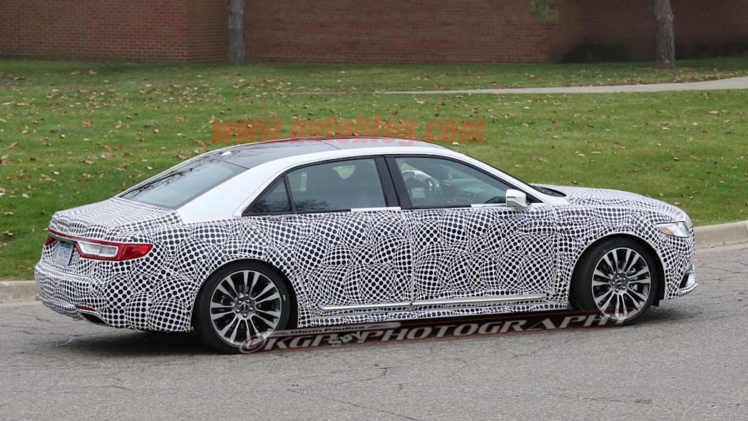 lincoln continental spy shot rear three quarters passenger side