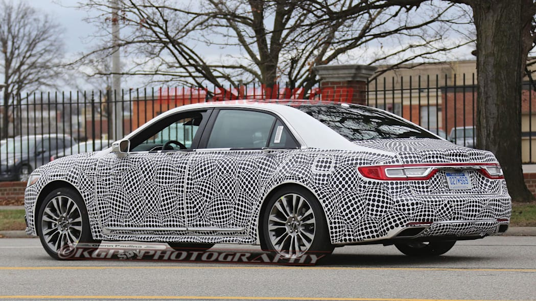 lincoln continental spy shot rear three quarters driver side