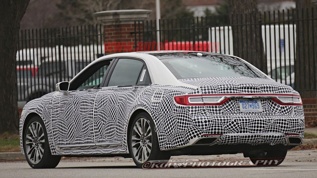 lincoln continental spy shot taillights shape