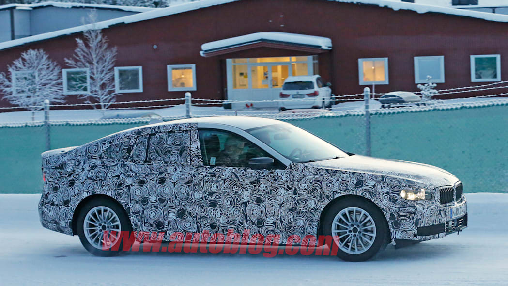 winter testing profile bmw 5 series spy shot
