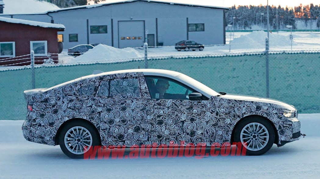 spy shot profile bmw 5 series camo winter