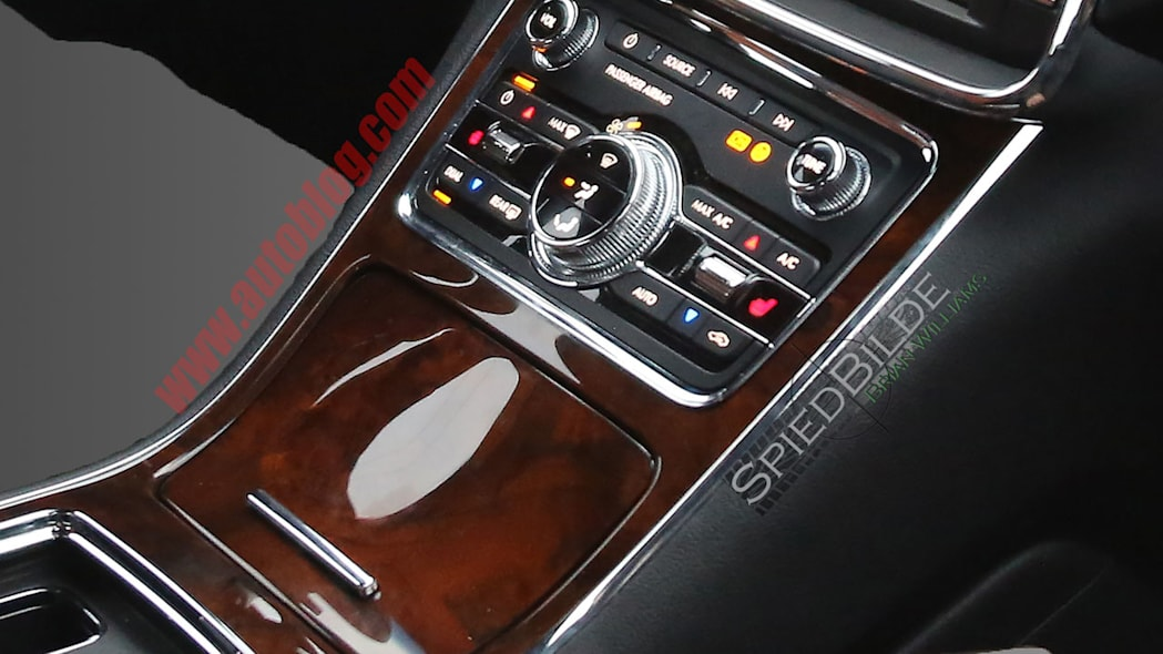 lincoln continental interior spy shot console