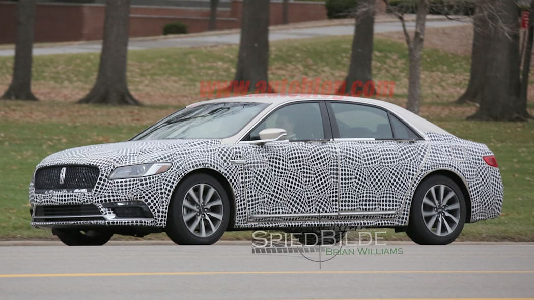 lincoln continental exterior spy shot