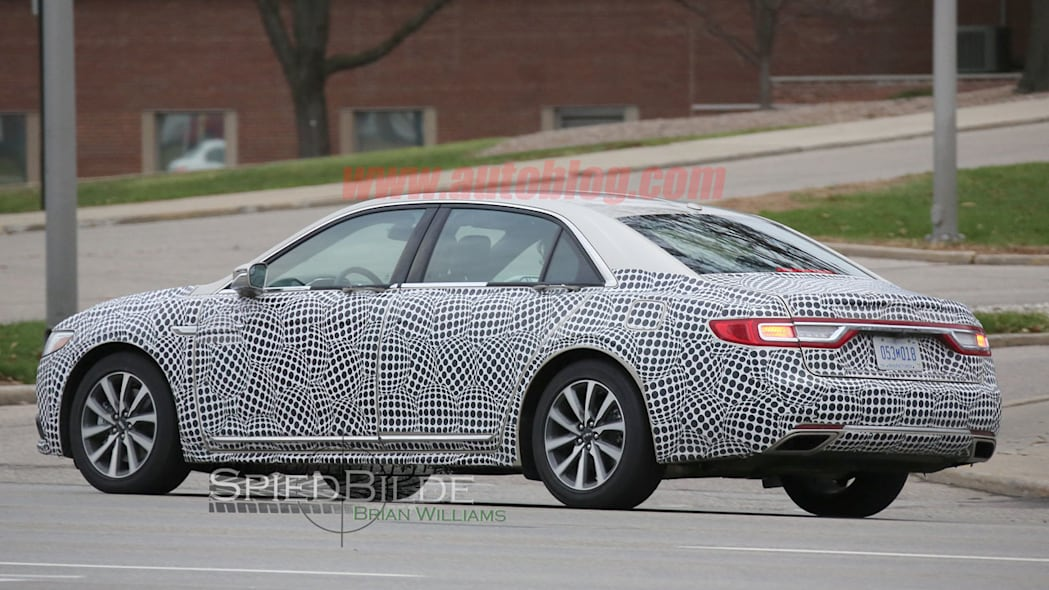 lincoln continental exterior spy shot back camouflage