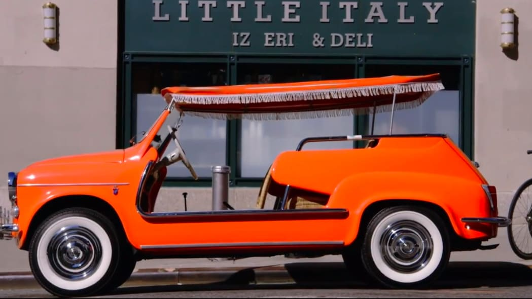 1959 fiat 600 jolly comedians in cars getting coffee louis ck