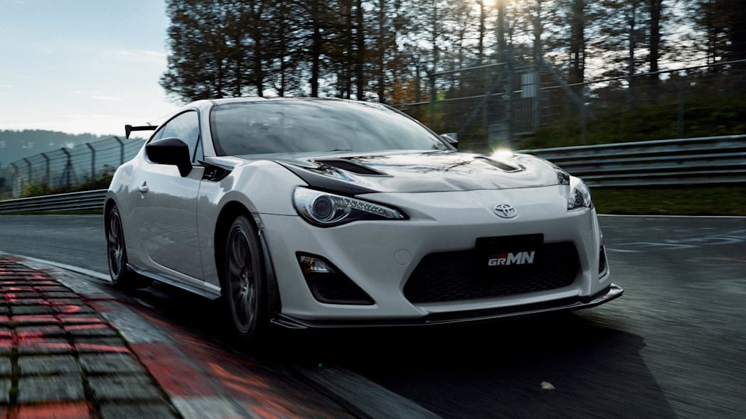 Toyota 86 GRMN moving front 3/4