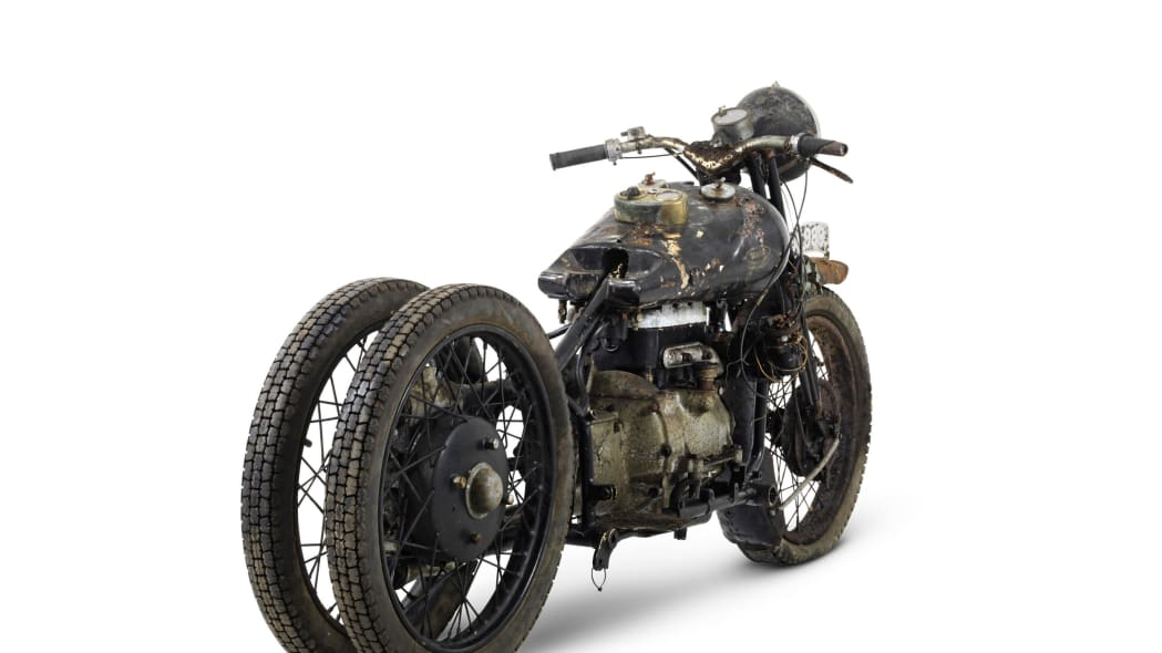 brough superior 750cc bs4 rear three quarters