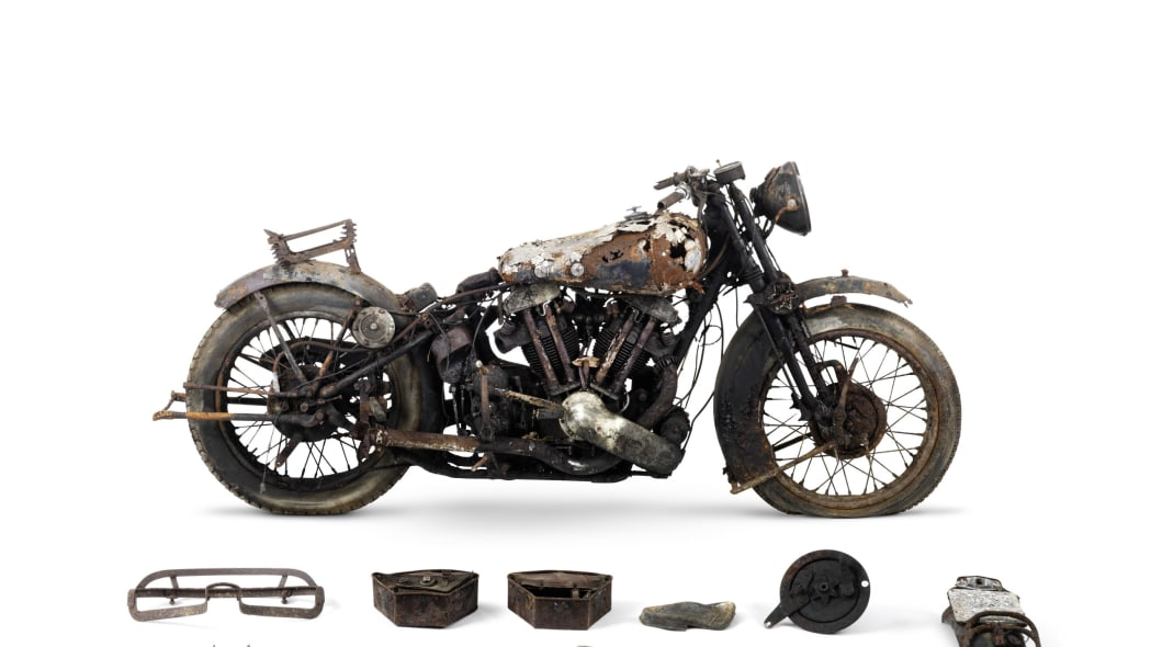 1938 Brough Superior 982cc SS100 parts